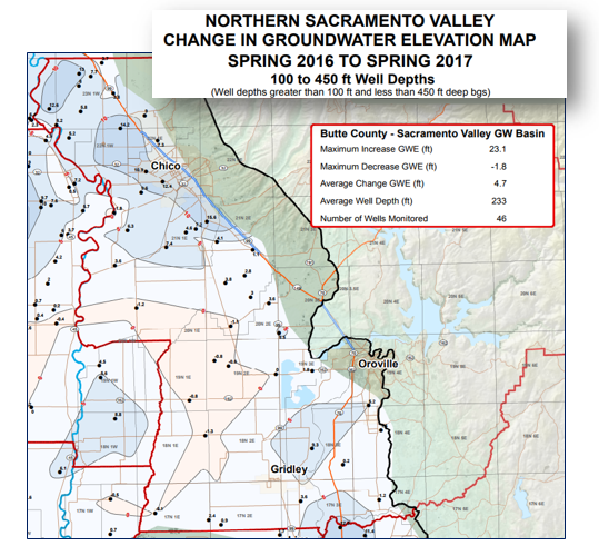 Wet Year Provides Welcome Bump To Groundwater Levels In Butte - Butte county map
